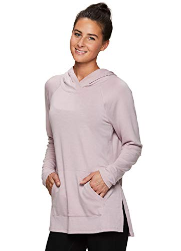 (RBX Active Women's French Terry Long Sleeve Hoodie Tunic)