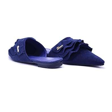 dovani Blue Mule Slipper For Women