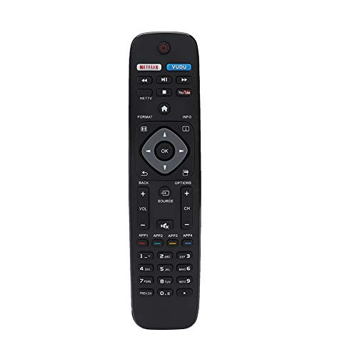 Replacement 4K UHD Smart TV Remote Control for Philips 32PFL