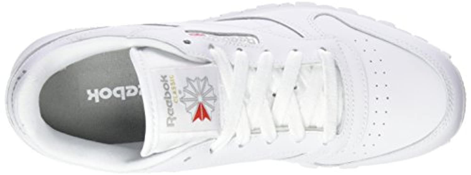 Reebok Unisex Kids' Classic Leather Low-Top Sneakers, White, 5.5 UK