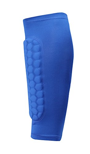 Pad Padded Calf (BOHENG Honeycomb Compression Calf Sleeve,Sports Calf Guard for Shin Splint Calf Pain Relief,Soccer Calf Protector Preventing Sports Injuries for Men Women Youth,Single)