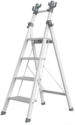 Doblar la ropa interior de rack Escalera plegable estantería, La escalera del hogar ganchos de metal plegable multifunción Cinco Escalera plegable al aire libre Cuatro Escalera plegable multifunción O: Amazon.es: Hogar