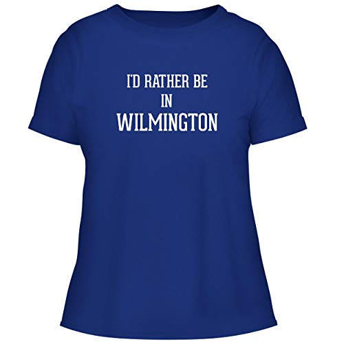 BH Cool Designs I'd Rather Be in Wilmington - Cute Women's Graphic Tee, Blue, Small