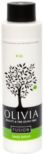 Olivia Olive Beauty :Revitalizing Body Lotion with Organic Olive Fruit & Fig extracts, from Greece, 10.1 oz. (Fusion Olive Oil)