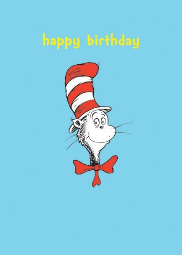 Dr Seuss Cat In The Hat QuotHappy Birthdayquot Birthday Card