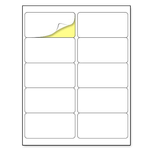 "(2"" x 4"") 30 Sheets, Matte White Sticker Label, Laser/Inkjet Printing - 10 per Page"