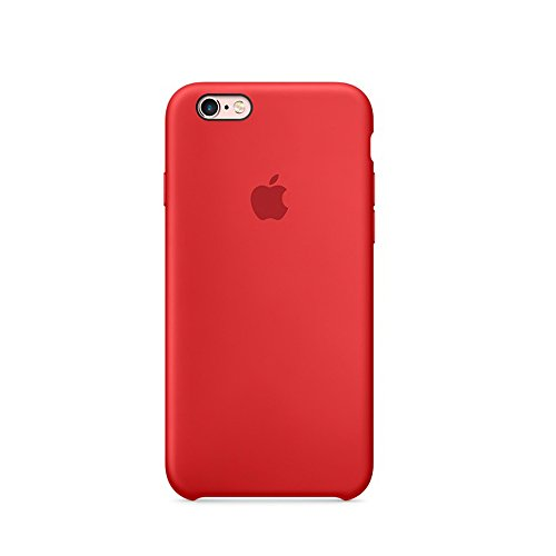 Optimal shield Soft Leather Apple Silicone Case Cover for Apple iPhone 6 /6s (4.7inch) Boxed- Retail Packaging (Red) (Case Cover Red Silicone)