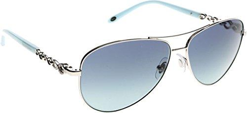 Tiffany TF3049B 6001-9S Silver TF3049B Pilot Sunglasses Lens Category 2 Size - And Co Tiffany