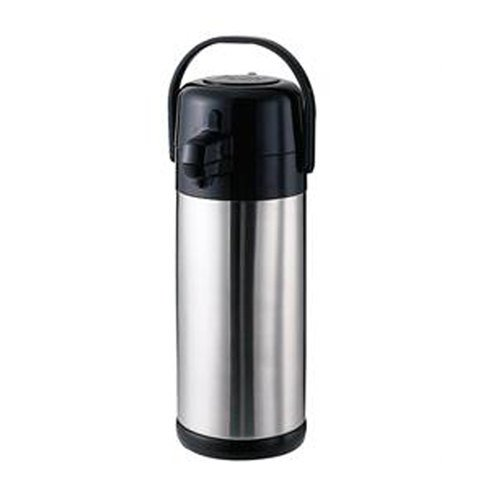 Economy Airpot - Service Ideas SECA25S Airpot with Pump, Stainless Steel Lined, 2.5 L