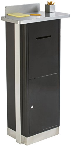 Displays2go Heavy Duty Suggestion Comment Box, Floor Standing Mail Slot, Locking (FLSDSUGBK) by Displays2go