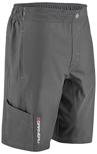 Louis Garneau Men's Range Mountain Bike Padded MTB Cargo Shorts, Asphalt, Medium Aero X Bib Short