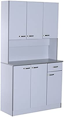 Charmant HomCom 71u201d Buffet Server Microwave Storage Cabinet Hutch  White