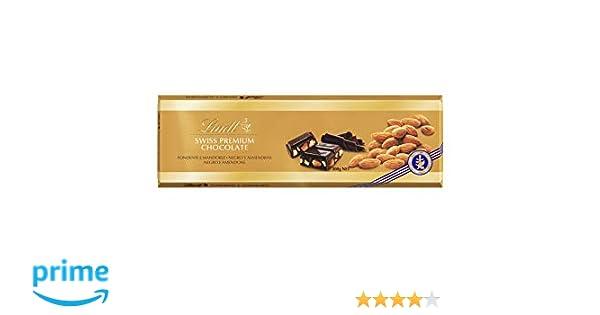 Lindt Gama Oro Tableta de Chocolate Negro con Almendras Enteras - 5 Paquetes de 300 gr - Total: 1500 gr: Amazon.es: Alimentación y bebidas
