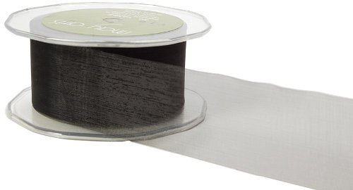 May Arts 3-Inch Wide Ribbon, Black Sheer