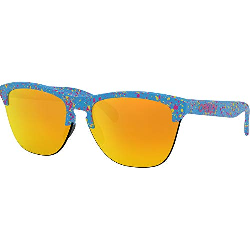 Oakley Men's Frogskins Lite Iridium Round Sunglasses, Sky Blue, 63.2 mm (Oakley Sonnenbrille Damen Polarisiert)