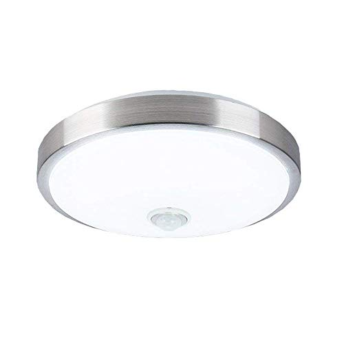 AFSEMOS Motion Sensor Light Ceiling 12W Indoor Sensing LED Flush Mount Fixture Ceiling Light with Human Body Motion,Cool White(6000K), Lighting for Hallway Stairway Garage Porch Bathroom Warehouse