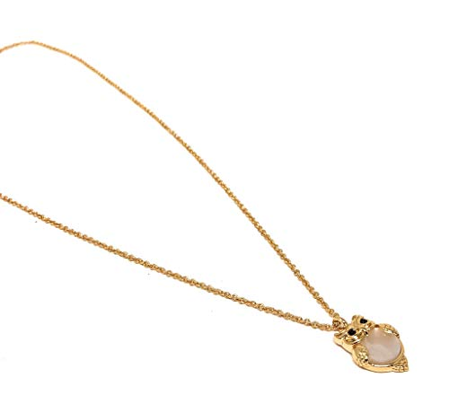 Kate Spade New York Into The Woods Owl Gold Plated Charm Pendant Necklace Cream