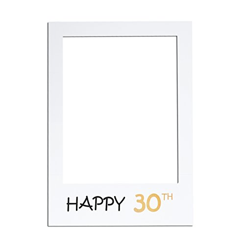 LUOEM Photo Frame Cutouts Picture Selfie Frame Photo Booth Props for 30th Birthday Party 30th Birthday Photo Frames