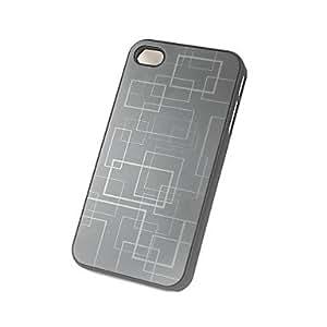 TOPQQ Science Fiction Plastics Full Body Case for iPhone 4/4S(Assorted Colors) , Black