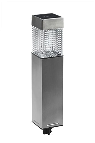 EZSolar QS7Mf-R2-SS-T15 Steel Solar Square Bollard (15 Pack), Stainless Steel by EZSolar