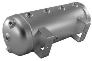 3 Gallon Aluminum Air Tank Silver 8 Ports for Bags Air Ride Fbss