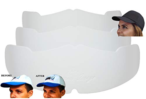 3Pk. White Manta Ray Baseball Caps Crown Inserts Low Profile Caps| Hat Shaper| Hat Stretcher| Hat Crown Stiffener| Flex-fit Hat Support| Hat Padding| Hat Cleaning Aide| Cap Storage Aide| 100% MBG.