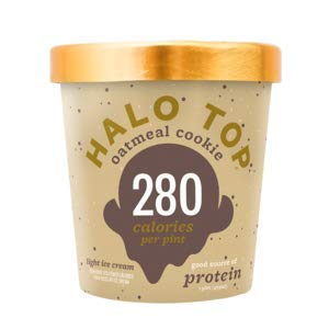 Halo Top, Oatmeal Cookie Ice Cream, Pint (4 Count) (Best Halo Top Ice Cream)