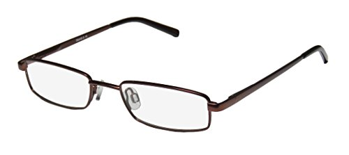 [D&A Lyric Mens/Womens Rx-able Distinct Rectangular Full-rim Spring Hinges Eyeglasses/Eyewear (48-18-130, Brownish] (Blue Ninja Costume Walmart)