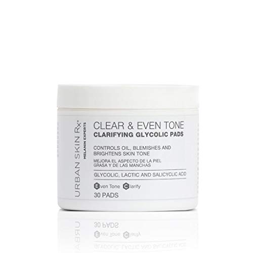 Urban Skin Rx Clear & Even Tone Clarifying Glycolic Pads 30 Count