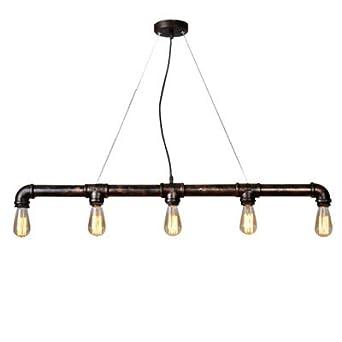 Zhfc Personlichkeit Rohr Anhanger Lampe Eisenstange Dekorative