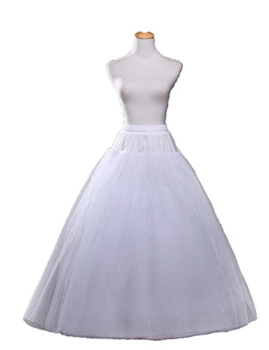 Dresstore Women's Bridal Petticoats Ball Gown A Line Crinoline Slip for Wedding Party