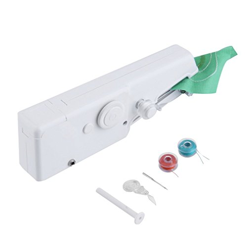 Firlar Mini Portable Household Handheld Light weight Electric Stitch Sew Sewing Machine by Firlar