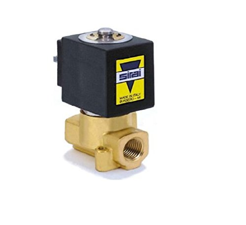 Sirai L121BB022A10AH1 Brass Body Direct Acting General Service Solenoid Valve, 1/4
