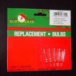 Kurt Adler 12/13v 0.08amp UL Approved Extra Bright Clear Bulbs For 10 Light Strings