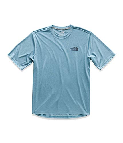 (The North Face Men's Short Sleeve LFC Reaxion Crew, Storm Blue Heather/Urban Navy, Size 3XL)