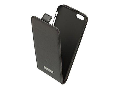 Commander Premium DeLuxe Vertikal Leder Case für Apple iPhone 6 schwarz