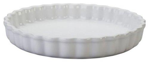 Le Creuset Stoneware 1.45-Quart Tart Dish, White