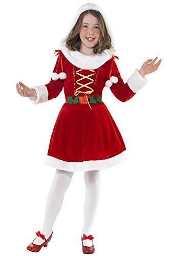 Children's Red Little Miss Santa Costume.