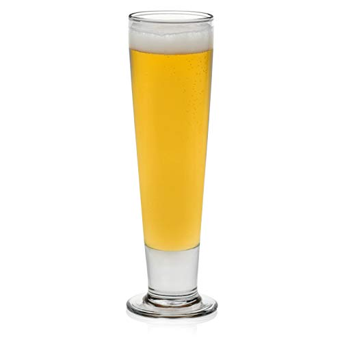 - Libbey Stockholm Pilsner Beer Glasses, Set of 4