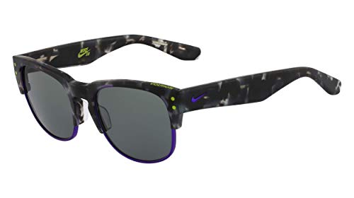 Nike Volition Round Sunglasses Grey Tortoise/Hyper Grape One Size