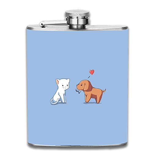 Flasks For Liquor,Cool Youtube Channel Art Hip Flask For Men And Women, Perfect For Gifts, Polished Stainless Steel 7 Oz Alcohol Whiskey Flask