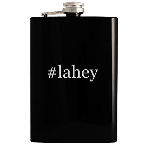 (#lahey - 8oz Hashtag Hip Drinking Alcohol Flask, Black)