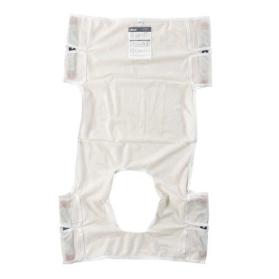 13026 - Patient Lift Sling, Polyester Mesh with Commode Cutout