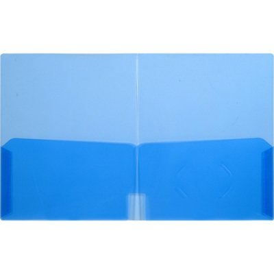 LIO91120BLCT - Lion Office Products, Inc CLEAR-LINE 2-Pocket Plastic Folder by Lion Office Products, Inc (Image #1)
