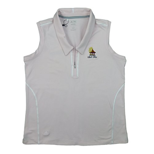 Adidas Womens adiPURE Sleeveless Golf Shirt with Bali Hai Logo Large Duchess/White