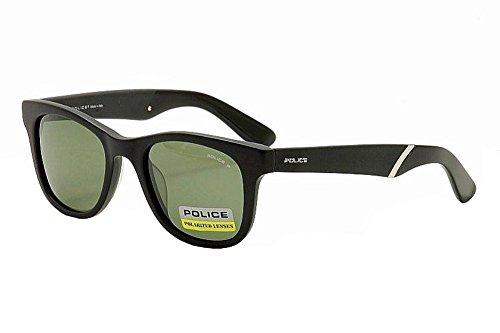 Police S1715M-703P Square Sunglasses,Matt Black,50 - Police Sunglasses Black
