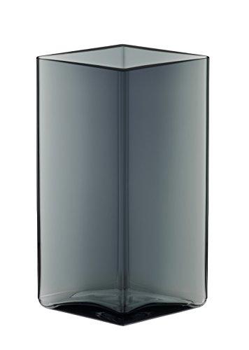 Iittala Ruutu Glass Vase By Ronan and Erwan Bouroullec for (Gray, 4.5
