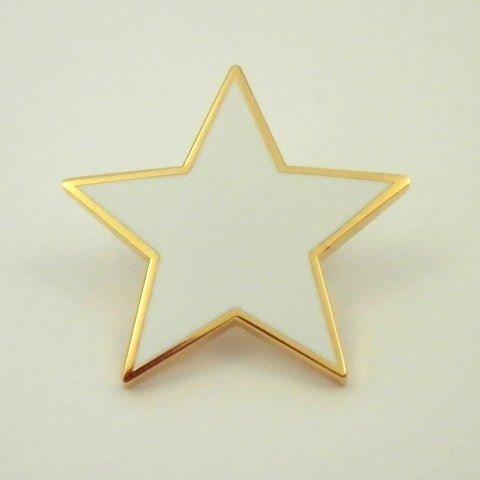 (Plain White Star pin badge)