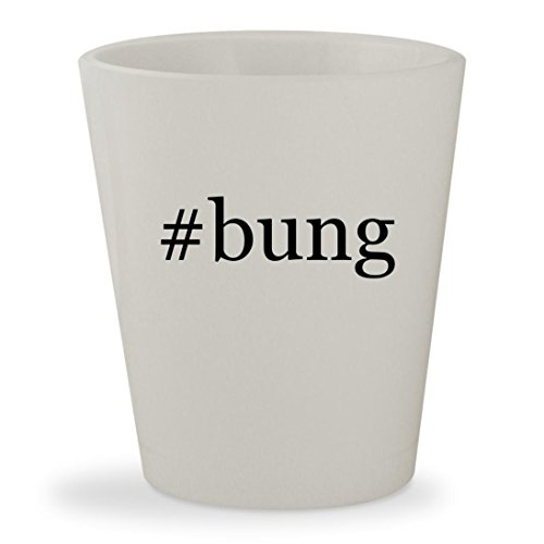 #bung - White Hashtag Ceramic 1.5oz Shot Glass