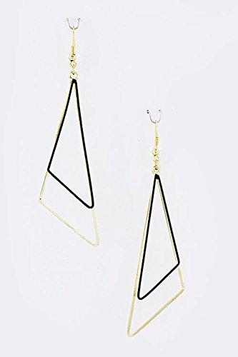 Trifari Triangle Earrings (KARMAS CANVAS TRIANGLE DANGLE EARRINGS (Black))